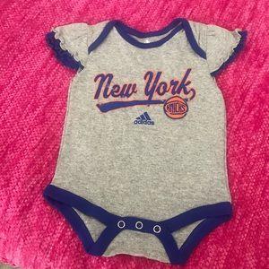 ADIDAS New York Gray/Blue/Orange Bodysuit 0/3 M